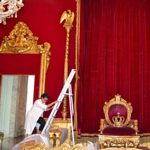 Baldacchino (XIX sec.). Montaggio dopo il restauro.